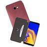 Slim Folio Case Samsung Galaxy J4 Plus Bordeaux Rood