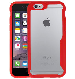 Rood Focus Transparant Hard Cases iPhone 6