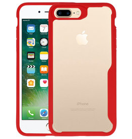 Rood Focus Transparant Hard Cases iPhone 7 / 8 Plus