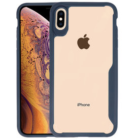 Navy Focus Transparant Hard Cases iPhone XS Maxy