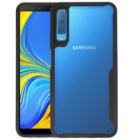 Zwart Focus Transparant Hard Cases Samsung Galaxy A7 2018
