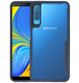Navy Focus Transparant Hard Cases Samsung Galaxy A7 2018
