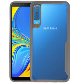 Grijs Focus Transparant Hard Cases Samsung Galaxy A7 2018