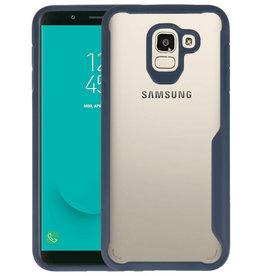 Navy Focus Transparant Hard Cases Samsung Galaxy J6