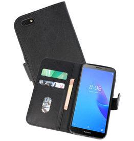 Huawei Y5 Lite 2018 Hoesje Kaarthouder Book Case Telefoonhoesje Zwart