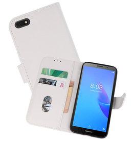 Huawei Y5 Lite 2018 Hoesje Kaarthouder Book Case Telefoonhoesje Wit