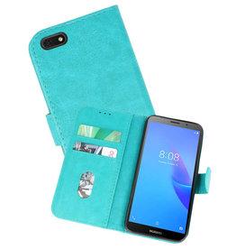 Huawei Y5 Lite 2018 Hoesje Kaarthouder Book Case Telefoonhoesje Groen