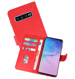 Bookstyle Wallet Cases Hoesje Samsung Galaxy S10 Rood
