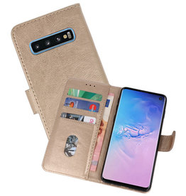 Bookstyle Wallet Cases Hoesje Samsung Galaxy S10 Goud