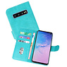 Bookstyle Wallet Cases Hoesje Samsung Galaxy S10 Groen