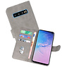 Bookstyle Wallet Cases Hoesje Samsung Galaxy S10 Grijs