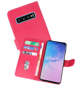 Bookstyle Wallet Cases Hoesje Samsung Galaxy S10 Roze