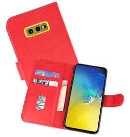 Bookstyle Wallet Cases Hoesje Samsung Galaxy S10e Rood