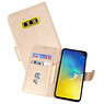 Bookstyle Wallet Cases Hoesje Samsung Galaxy S10e Goud