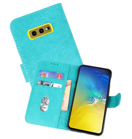 Bookstyle Wallet Cases Hoesje Samsung Galaxy S10e Groen