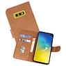 Bookstyle Wallet Cases Hoesje Samsung Galaxy S10e Bruin