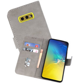 Bookstyle Wallet Cases Hoesje Samsung Galaxy S10e Grijs