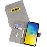 Samsung Galaxy S10e Hoesje Kaarthouder Book Case Telefoonhoesje Grijs