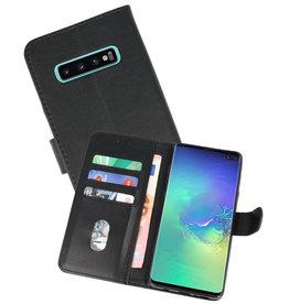 Samsung Galaxy S10 Plus Hoesje Kaarthouder Book Case Telefoonhoesje Zwart