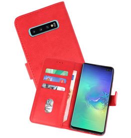 Bookstyle Wallet Cases Hoesje Samsung Galaxy S10 Plus Rood