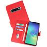 Samsung Galaxy S10 Plus Hoesje Kaarthouder Book Case Telefoonhoesje Rood