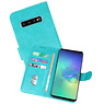 Bookstyle Wallet Cases Hoesje Samsung Galaxy S10 Plus Groen