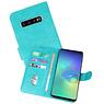 Samsung Galaxy S10 Plus Hoesje Kaarthouder Book Case Telefoonhoesje Groen