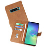 Bookstyle Wallet Cases Hoesje Samsung Galaxy S10 Plus Bruin