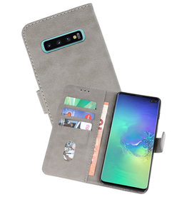 Bookstyle Wallet Cases Hoesje Samsung Galaxy S10 Plus Grijs