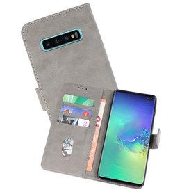 Samsung Galaxy S10 Plus Hoesje Kaarthouder Book Case Telefoonhoesje Grijs