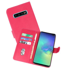 Bookstyle Wallet Cases Hoesje Samsung Galaxy S10 Plus Roze
