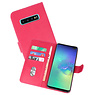 Samsung Galaxy S10 Plus Hoesje Kaarthouder Book Case Telefoonhoesje Roze