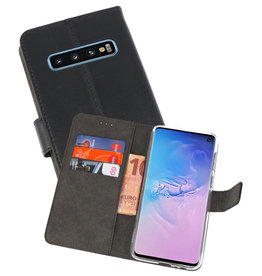 Wallet Cases Hoesje Samsung Galaxy S10 Zwart