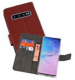 Wallet Cases Hoesje Samsung Galaxy S10 Bruin