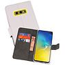 Wallet Cases Hoesje Samsung Galaxy S10e Wit