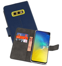 Wallet Cases Hoesje Samsung Galaxy S10e Navy