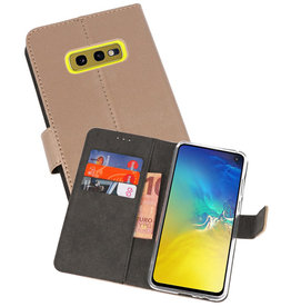 Wallet Cases Hoesje Samsung Galaxy S10e Goud