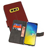 Wallet Cases Hoesje Samsung Galaxy S10e Bruin