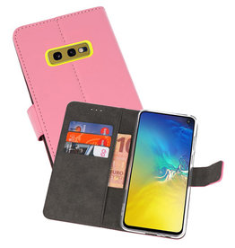 Wallet Cases Hoesje Samsung Galaxy S10e Roze