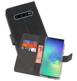 Wallet Cases Hoesje Samsung Galaxy S10 Plus Zwart