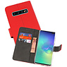 Wallet Cases Hoesje Samsung Galaxy S10 Plus Rood