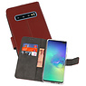 Wallet Cases Hoesje Samsung Galaxy S10 Plus Bruin