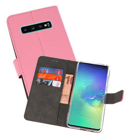 Wallet Cases Hoesje Samsung Galaxy S10 Plus Roze