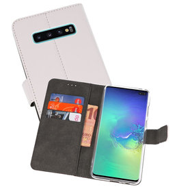 Wallet Cases Hoesje Samsung Galaxy S10 Plus Wit