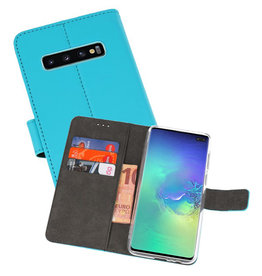 Wallet Cases Hoesje Samsung Galaxy S10 Plus Blauw