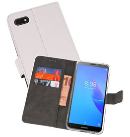 Wallet Cases Hoesje Huawei Y5 Lite 2018 Wit