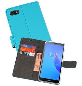 Wallet Cases Hoesje Huawei Y5 Lite 2018 Blauw