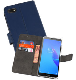 Wallet Cases Hoesje Huawei Y5 Lite 2018 Navy