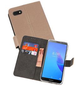 Wallet Cases Hoesje Huawei Y5 Lite 2018 Goud