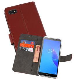 Wallet Cases Hoesje Huawei Y5 Lite 2018 Bruin